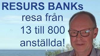 Hur startar & driver man en BANK? Lär av Resurs banks VD.