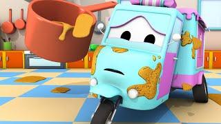 Автомойка Эвакуатора Тома - Конфетная машинка Кэрри  2 - Автомобильный Город 💧 детский мультфильм