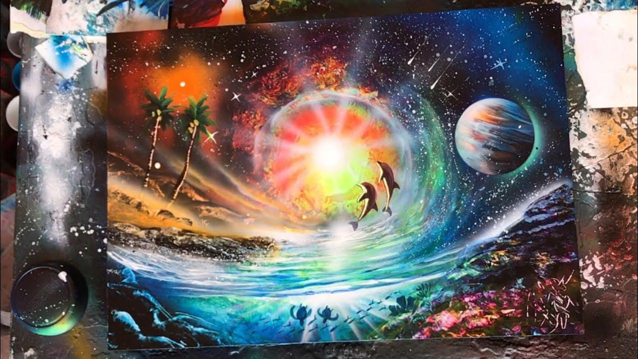 how to make stars spray paint art