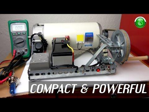 Homemade SURVIVAL / CAMPING Crank Generator