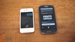 Samsung Galaxy S III S Voice feature demonstration and Siri comparison
