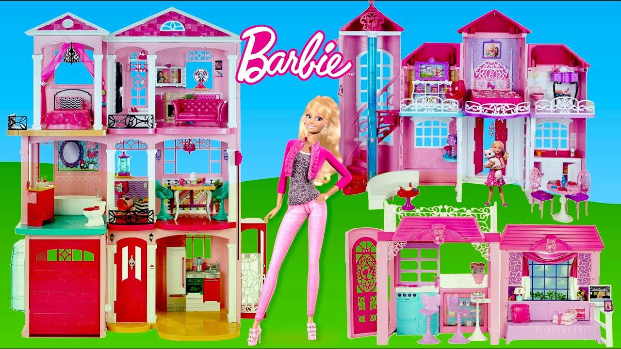 Barbie Dreamhouse 2015 Toys Video Compilation Thechildhoodlife Kids And Toys Youtube