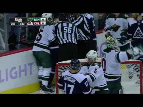 Gotta See It: Landeskog and Dubnyk exchange fists