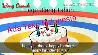 Lagu Ulang Tahun Anak  Teks Indonesia  - Selamat Ulang Tahun - Happy Birthday -
