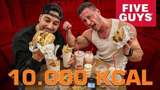 10.000 KALORIEN FIVE GUYS Challenge 🍔 |  FaxxenTV