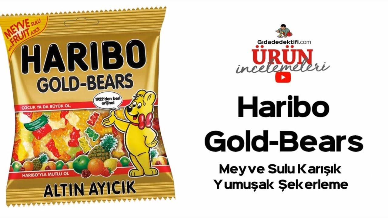Bu altın ayıcığın içinde bol mısır şurubu ve yüksek kalori var! Haribo Gold-Bears Yumuşak Şekerleme