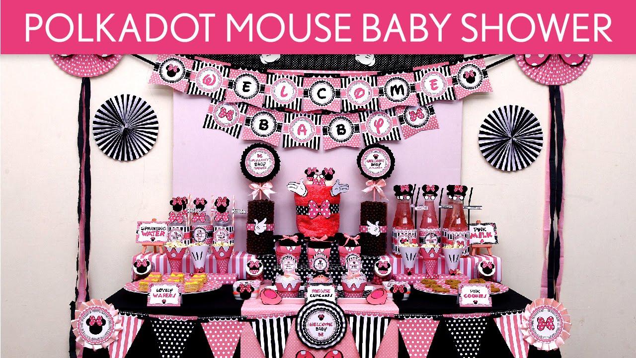 Polkadot Mouse Baby Shower Party Ideas Polkadot Mouse S48 Youtube