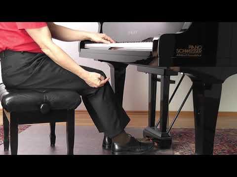 """Bach Präludium C Dur 5 Pedal aus dem Onlinekurs """"Spielend Klavier lernen mit Franz Titscher"""""""