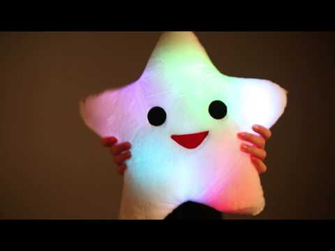Happy Star Light Up Pillow