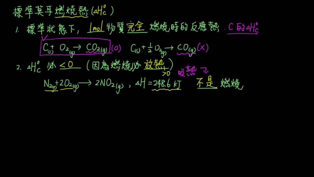 3-4.3_化學反應中的能量變化31_標準莫耳燃燒熱 - YouTube
