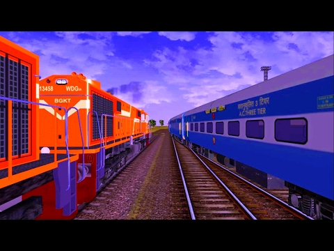 Freight Train from Mehsana to Vadodara Part 2 in MSTS Open Rails by Sumit Mehrotra