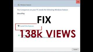 How To Fix DirectPlay Error In Windows 10
