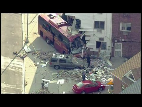 Bus Slams Rego Park Building