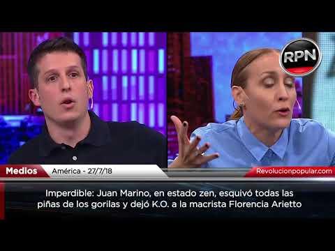 Juan Marino dejó K.O. a Florencia Arietto y los gorilas Infumables
