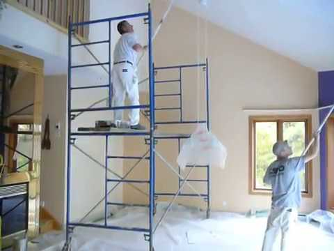peinture de plafond toit cath drale youtube. Black Bedroom Furniture Sets. Home Design Ideas