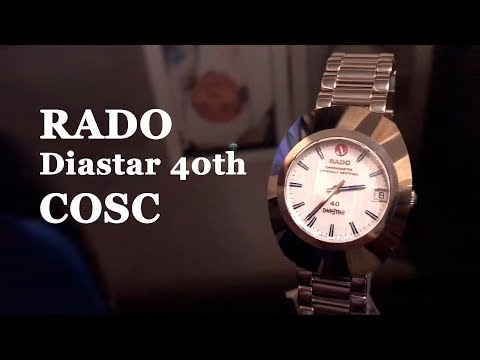 Rado Diastar watches 40th Anniversary Chronometer COSC Limited Edition 600pcs 636.0557.3