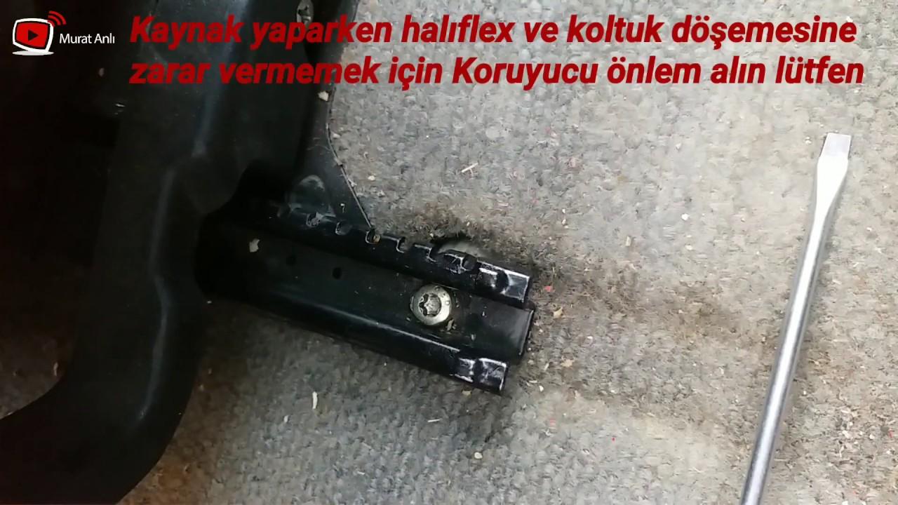 Renault 9 Broadway Koltuk Kizak Vida Basi Yalama Olursa Nasil Sokulur Youtube