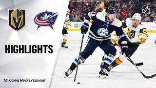 NHL Highlights   Golden Knights @ Blue Jackets 11/05/19
