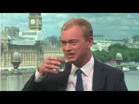 Andrew Neil grills Tim Farron on Brexit