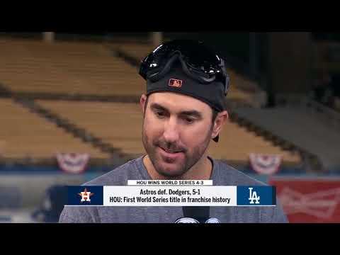 Justin Verlander Post Game World Series Game 7 Interview