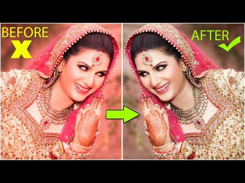 How To Color Correction Of Wedding Bride Photo In Photoshop - Hindi Tutorials
