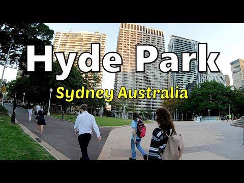Walking In HYDE PARK - Beautiful Park In SYDNEY City Centre, AUSTRALIA