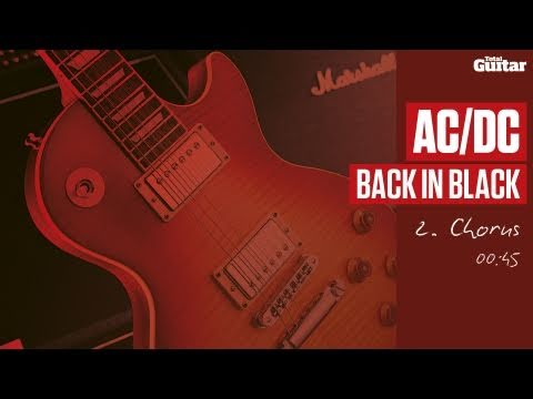 Guitar Lesson: AC/DC 'Back In Black' -- Part Two -- Chorus (TG214)