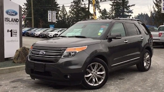 Visit us at: www.islandford.ca/used this 2015 explorer limited has luxury and comfort in spades. dual panel moon roof, leather seats with seating for 7 h...