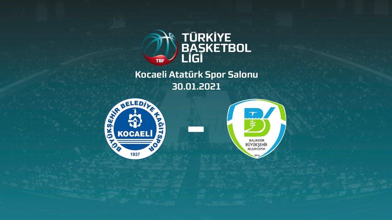 Kocaeli Bşb Kağıtspor – Balıkesir Büyükşehir Belediyespor TBL 16.Hafta