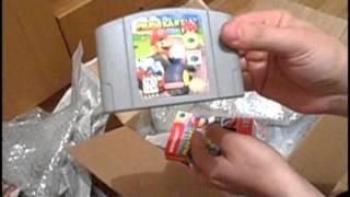 Распаковка посылки с картриджами SNES, N64 и ZX-Spectrum