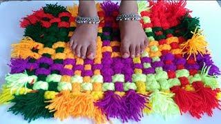 How to make Rug, Carpet, Table mat, Door mat using Woolen