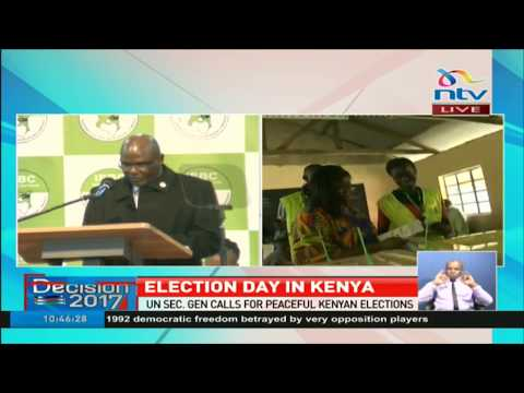 IEBC Kenya Chair Wafula Chebukati gives 1st press update on voting process