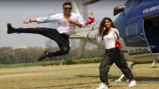 Tiger Shroff & Disha Patani make an ENTRY with helicopter at Baaghi 2 TRAILER LAUNCH