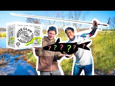 WHITE CLAW Catfish CREEK FISHING Challenge!