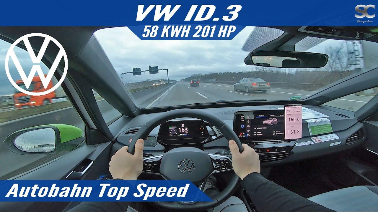 VW ID.3 1ST 201HP (2020) - Autobahn Top Speed Drive