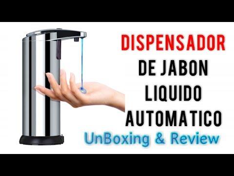 Tsumbay dispensador de jab n automatico en acero inoxidable unboxing review espa ol youtube - Dispensador de jabon automatico ...