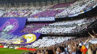FANS RMCF - Tifo Historia que tu hiciste historia por hacer - Real Madrid vs FC Barcelona