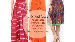 Sale Shopping Haul : Myntra, Koovs, Vajor, Blur Accessories