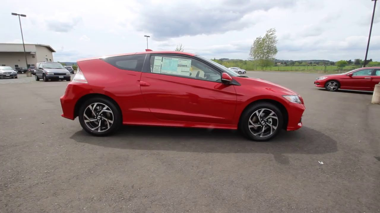 2016 Honda Cr Z Ex Milano Red Gs001644 Sumner Seattle Puyallup