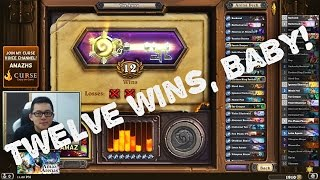 Hearthstone Arena - 12 wins Tempo Rogue with Hogger in Arena!