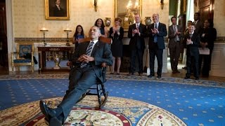 UConn Huskies Visit President Obama (and Gift a Rocking Chair)
