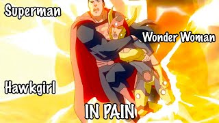 Superman, Wonder Woman & Hawkgirl in Pain : Young Justice 3x14