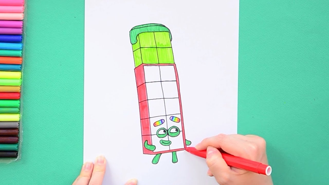 How To Draw Number 14  Numberblocks