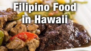 Filipino Food at Naty's Kitchen in Honolulu, Hawaii