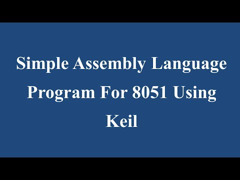 Simple Assembly Language Program