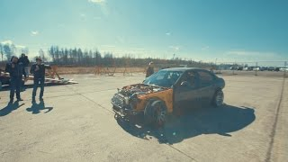 Henri Kivimägi's drift car first test run (2JZ BMW e90)