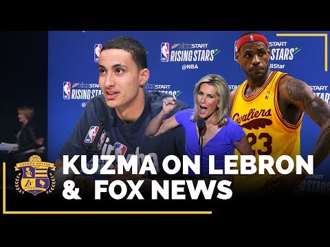 Kyle Kuzma Talks LeBron James And Fox News Host Laura Ingraham