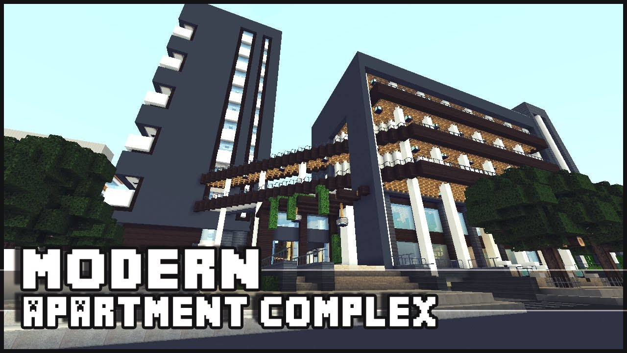 Minecraft Modern Apartment Complex Shops Youtube