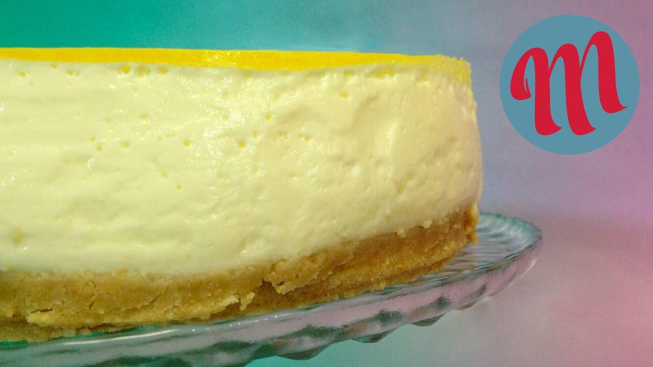 Tarta de queso y limón | RECETA FÁCIL SIN HORNO