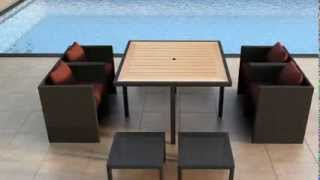 9 Piece Arbor Cube Outdoor Dining Set By Harmonia Living